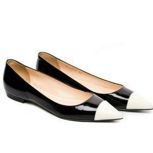 Giorgio Armani Vintage Black White Flats 6 Rare